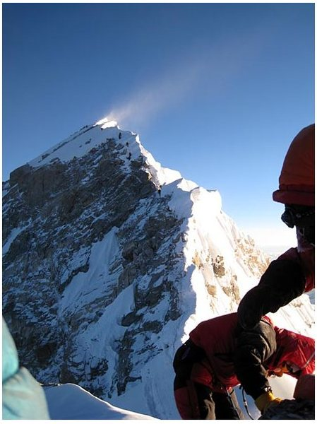 Rock Climbing Photo: Everest summit from the South Summit.