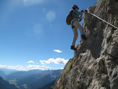 Rock Climbing Photo: Panoramic views on the ferrata.