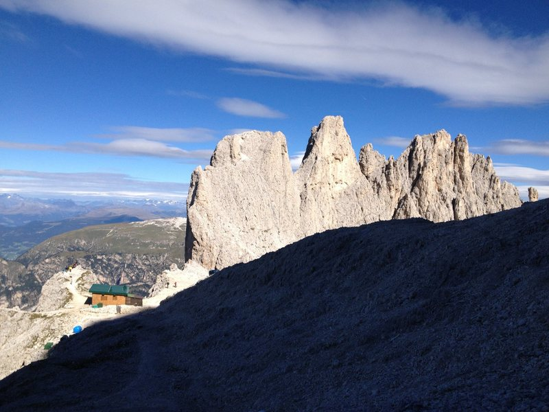 Rock Climbing Photo: Rifugio Alberto at Santer Pass