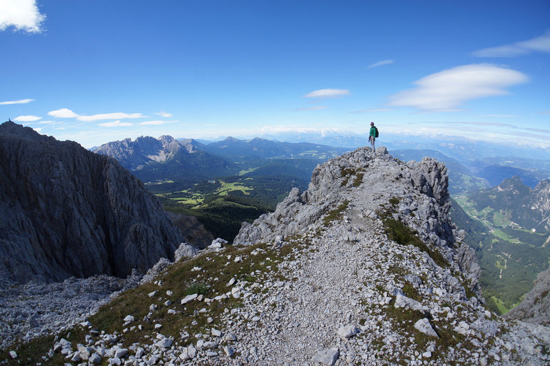 Rock Climbing Photo: Panoramic views at Santer Pass
