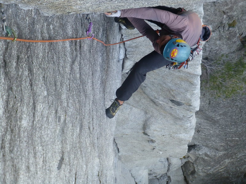 Superb tilting job! This lie back (pitch 5) is so long it kind of feels like you are climbing an overhang lol.