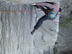 Rock Climbing Photo: Superb tilting job! This lie back (pitch 5) is so ...