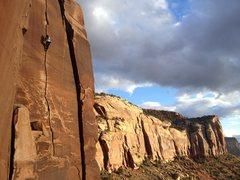 Rock Climbing Photo: Kat on way rambo. Her 2nd day ever climbing cracks...