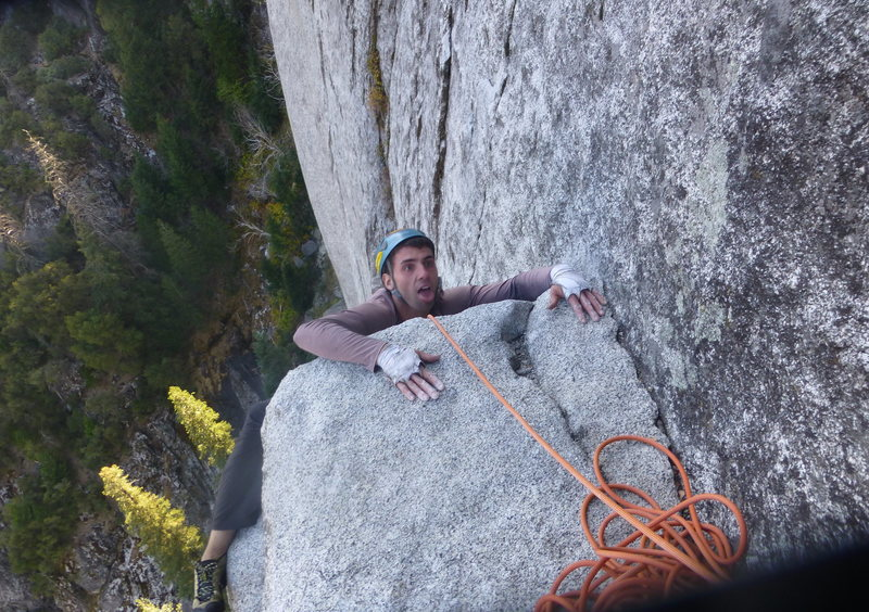 Rock Climbing Photo: How you feel after you are done with pitch 5, or p...