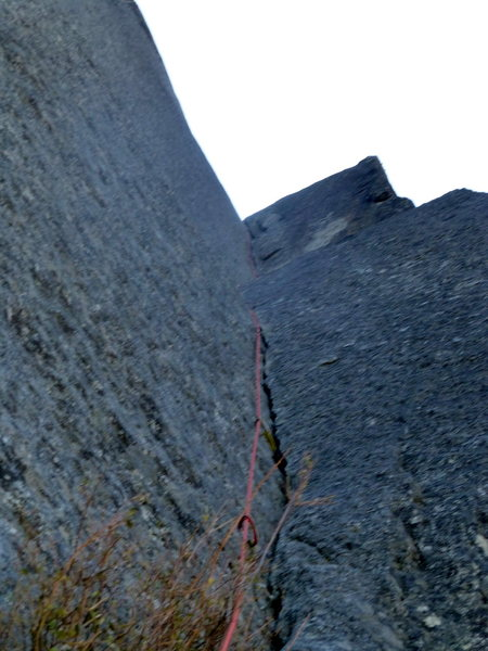 Rock Climbing Photo: Best pitch on the route. Incredible pitch.
