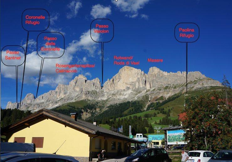 Rosengarten/ Catinaccio Group from Paolina lift base