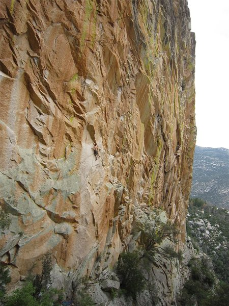 Rock Climbing Photo: This is closer to the actual color of the wall but...
