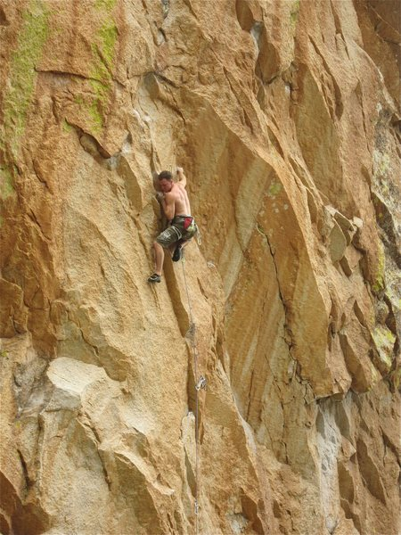 Rock Climbing Photo: AK 47 in the business.