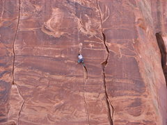 Rock Climbing Photo: This is where it becomes difficult