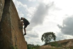 Rock Climbing Photo: Another slab, excellent photography by Arun!