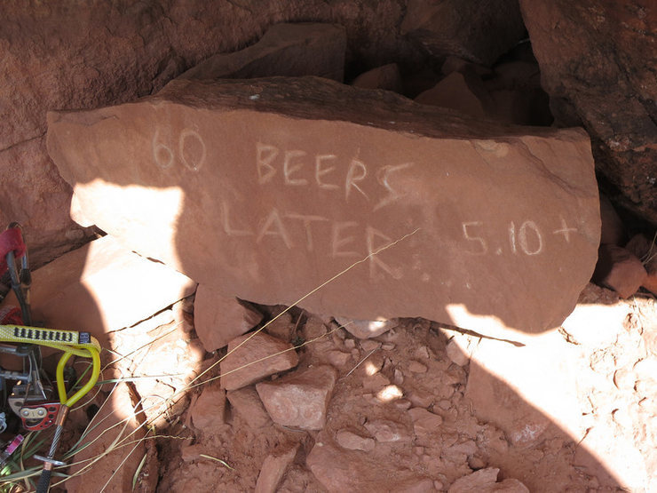 Rock Climbing Photo: 60 Beers Later