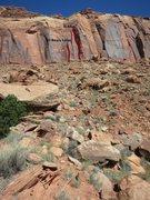 Rock Climbing Photo: The approach to H-Man.