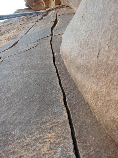 Looking at Mr. Peanut's beautiful crack from rappel.