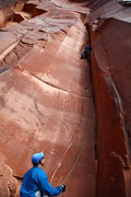 Rock Climbing Photo: Chris leading Catnap