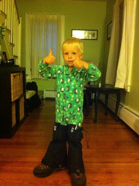 Two toddler thumbs up.