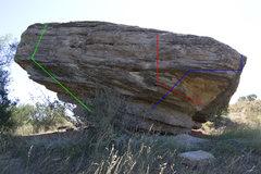 Rock Climbing Photo: Tidal Force v2-Green Sweet Nebula v1-Blue Zeldar v...