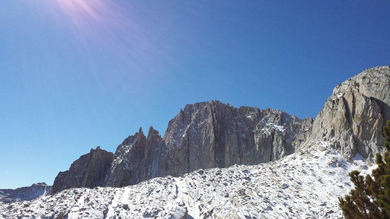 Rock Climbing Photo: North Peak gully, 10-15-2013