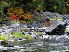 Rock Climbing Photo: Dyno 101 & Beach Arete