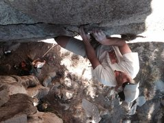 Rock Climbing Photo: Doug Nidever gettin' some on the new route.