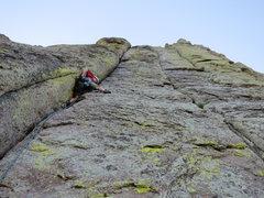 Rock Climbing Photo: Oooo, pretty green pillars!