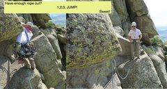 Rock Climbing Photo: 1,2,3, JUMP!