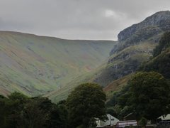 Rock Climbing Photo: Eagle Crag from the village of Stonethwaite