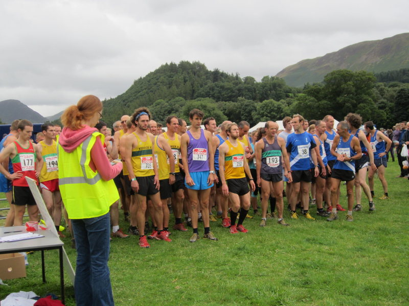 Mountain Fell runners. Very popular sport in the Lake District and other parts of Britain, race up and down nearby mountains