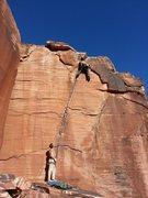 Rock Climbing Photo: Atman in Calico Basin Red Rocks NV Mostafa Noori