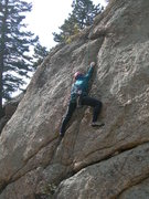 Rock Climbing Photo: Deb explores the lower section.