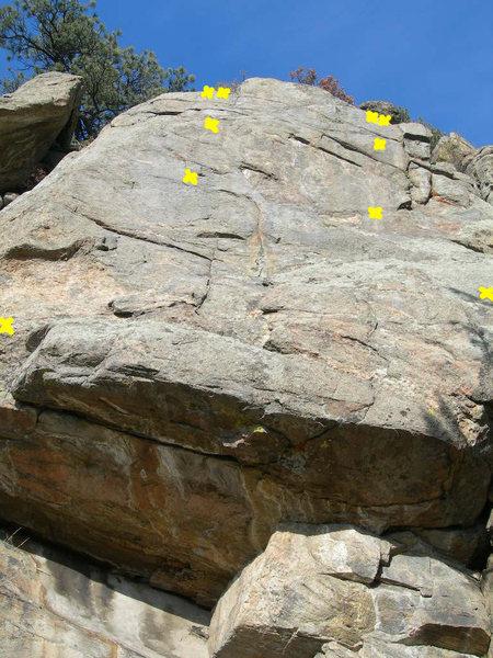 Rock Climbing Photo: Right bolt & gear routes.