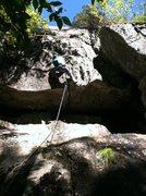 Rock Climbing Photo: Jon pulling through on his ascent