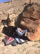 Rock Climbing Photo: Kody working the start moves.