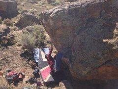 Rock Climbing Photo: Kody working Puffer Fish.