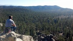Rock Climbing Photo: Taking in the view of Holcomb valley after a top o...