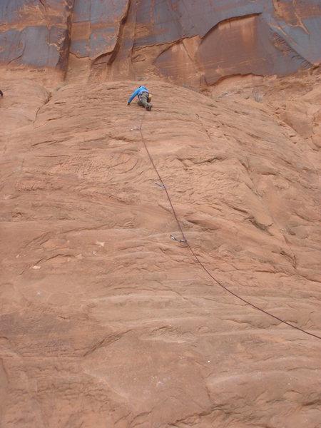 Rock Climbing Photo: Lucy Clark leading the Slab 2.