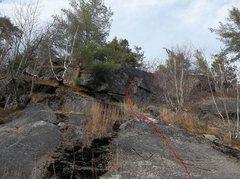 Rock Climbing Photo: big red line to climb.