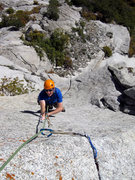 Rock Climbing Photo: Sean coming up the gorgeous finger locks on the la...