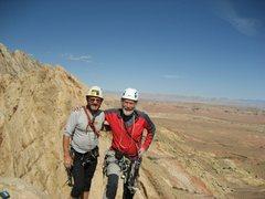 Rock Climbing Photo: On Summit FA Knights Errant UTAH P.Ross Sir Chris ...