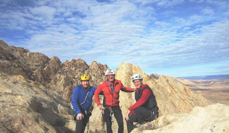 Summit of FA.Glenfiddich Regrets. Utah<br> A.Ross P.Ross. J.Howe