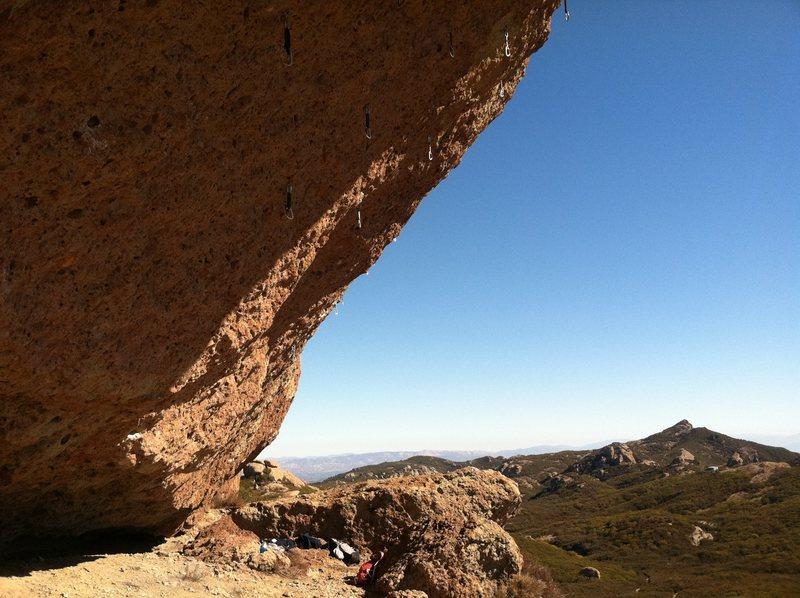 Rock Climbing Photo: Looking toward the right side of Boney Bluff
