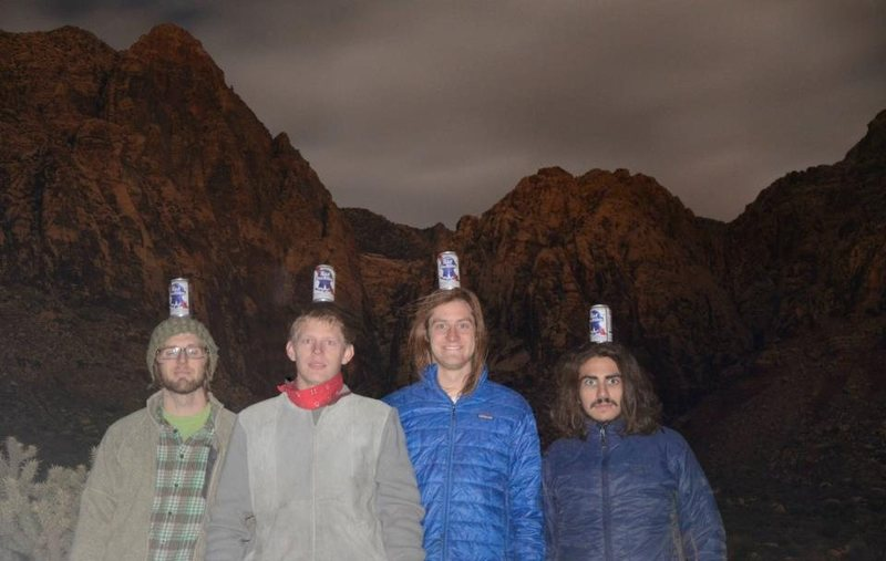 Rock Climbing Photo: This picture was actually taken in pitch black aft...