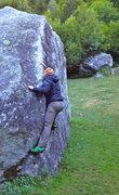 Rock Climbing Photo: Val di Mello bolder problems 10 minute walk from V...