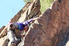 Rock Climbing Photo: Mike does a do-si-do