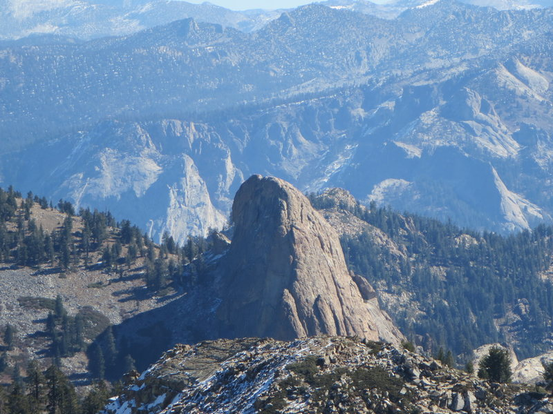 Rock Climbing Photo: The Obelisk from Spanish Mountain (looking at the ...