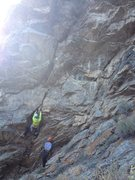 "Rock Climbing Photo: Chris Snobeck on the first ascent of ""Ruckus&..."