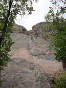Rock Climbing Photo: Matt getting ready to rap Flee.