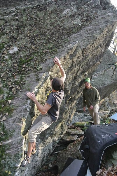 """Hang Ten"" on the Bombora Boulder in the BoB."