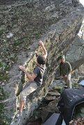 "Rock Climbing Photo: ""Hang Ten"" on the Bombora Boulder in the..."