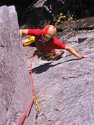 Rock Climbing Photo: Near the top of p1 of Wildest Dreams.