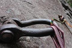 Rock Climbing Photo: old iron